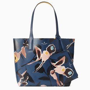kate spade - arch paper rose REVERSIBLE tote - NWT